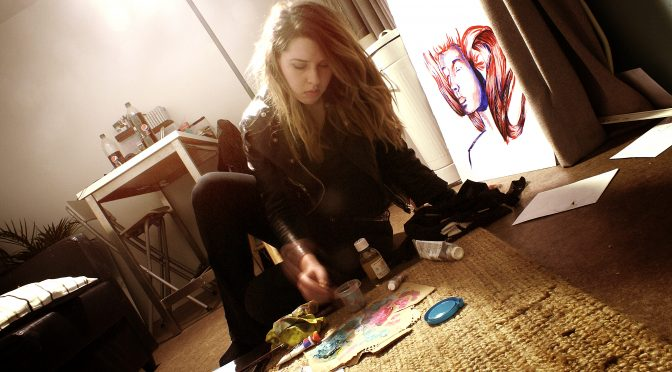 Me painting in my home! Photography project @ art school